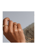 PILGRIM Fran Gold-Plated Crystal Ring by Pilgrim