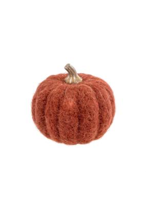 Medium Russet Felt Pumpkin