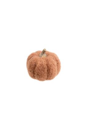 Small Terracotta Felt Pumpkin