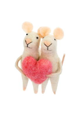 Indaba Trading Love You Mice Mouse Ornament