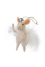 Indaba Trading Angelic Annie Mouse Ornament