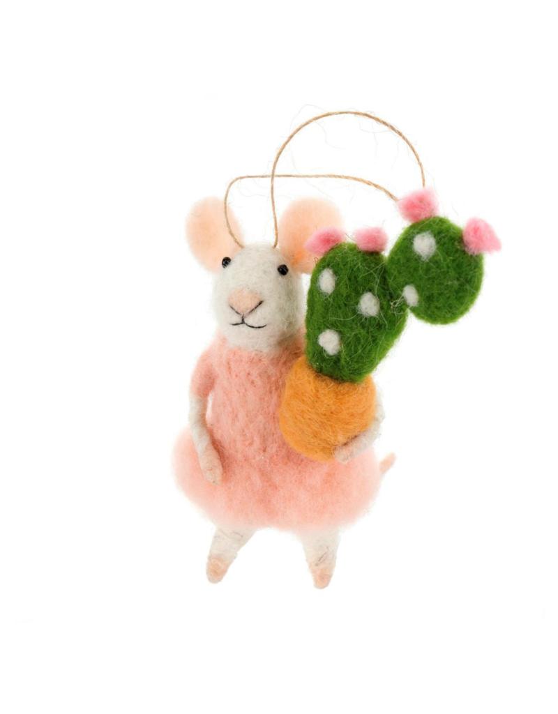 Succulent Stella Mouse Ornament