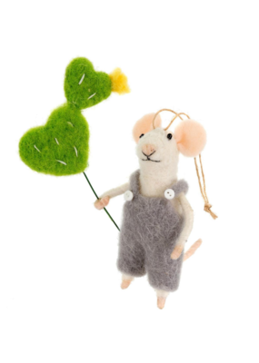 Prickly Pete Mouse Ornament