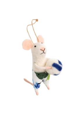 Volleyball Vince Mouse Ornament