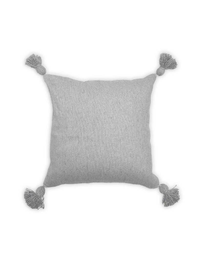 Moroccan Pillow Solid Light Grey