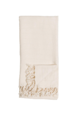Turkish Towel Bamboo Striped Cream