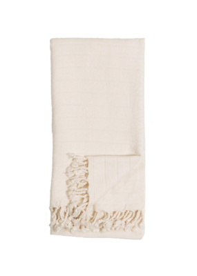 Turkish Towel Bamboo Striped Cream