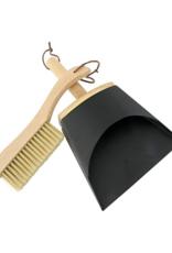 Beechwood Brush & Metal Dust Pan
