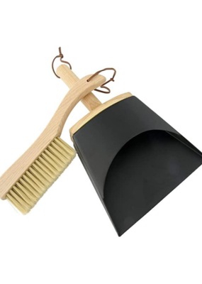 Beechwood Brush & Metal Dust Pan