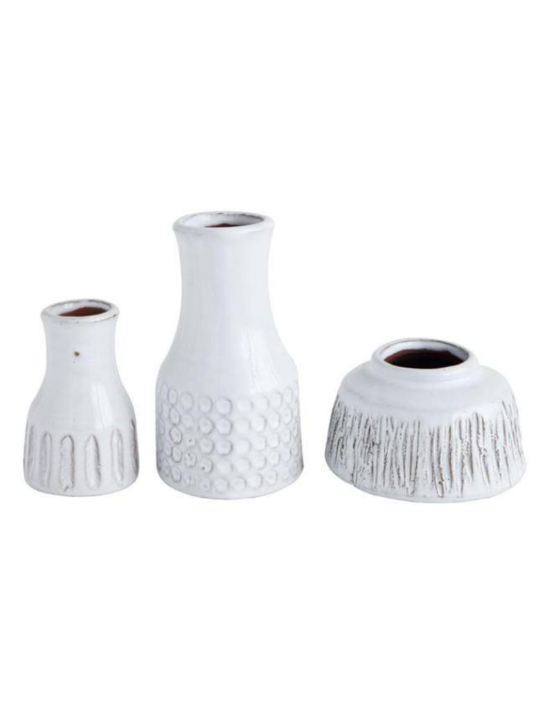 """Bloomingville Terracotta Vase White 2.5""""H"""