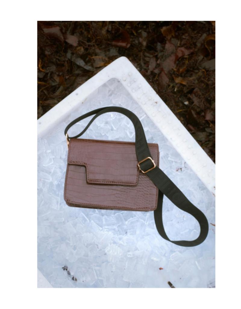 ICHI Adelia Shoulder Bag Russet Brown by ICHI