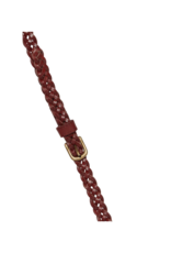 ICHI Silla Braided Belt Russet Brown by ICHI