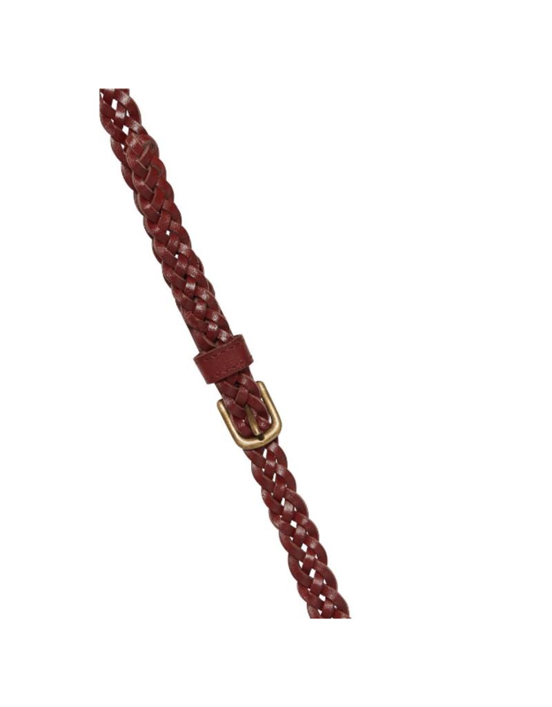 ICHI Silla Braided Belt Russet Brown by ICHI