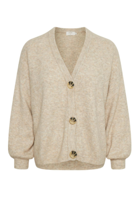Angha Knit Cardigan Oat Melange by Cream
