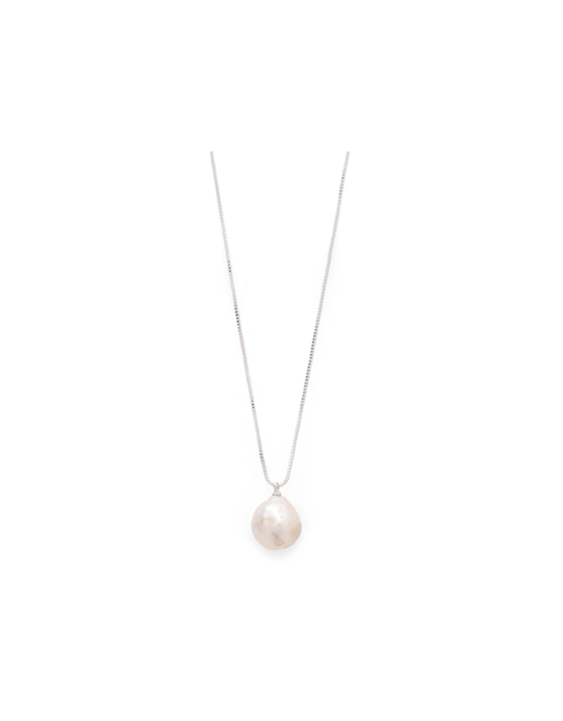 PILGRIM Ama Pearl Silver-Plated Necklace by Pilgrim