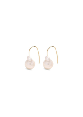 PILGRIM Ama Pearl Gold-Plated Earrings by Pilgrim