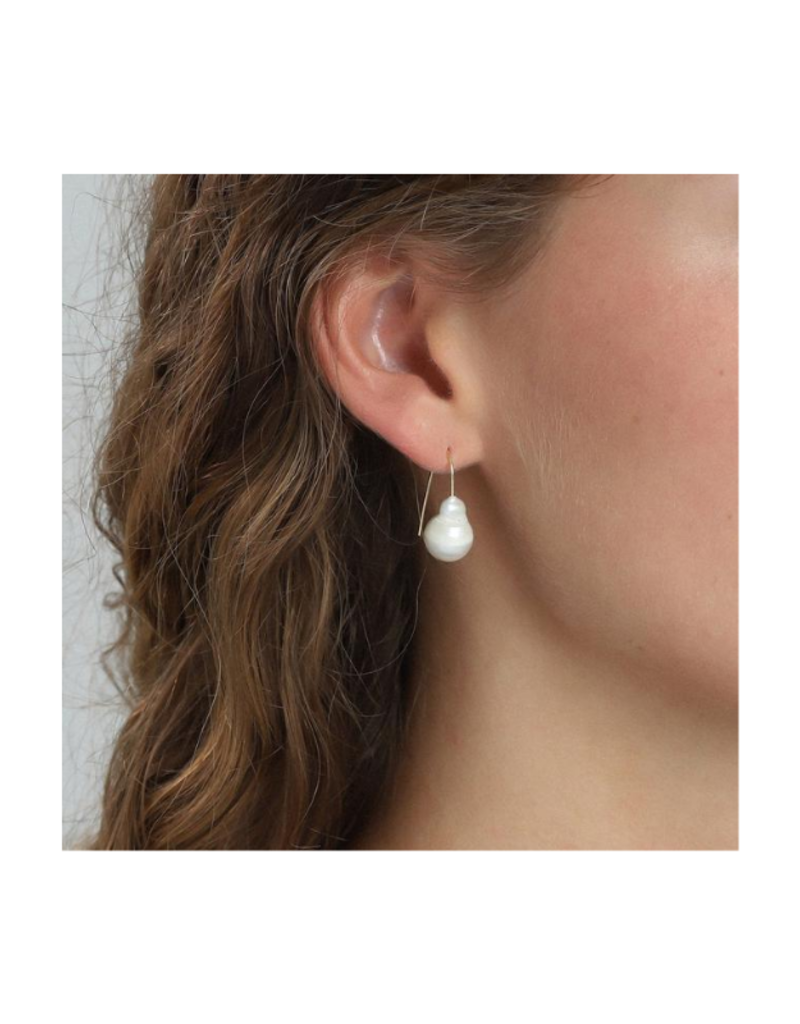 PILGRIM Ama Pearl Gold-Plated Earrings by Pilgrim