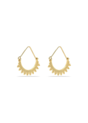 PILGRIM Kiku Gold-Plated Earrings by Pilgrim