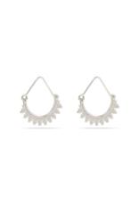 PILGRIM Kiku Silver-Plated Earrings by Pilgrim