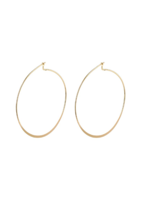 PILGRIM Large Tilly Gold-Plated Hoop Earrings by Pilgrim