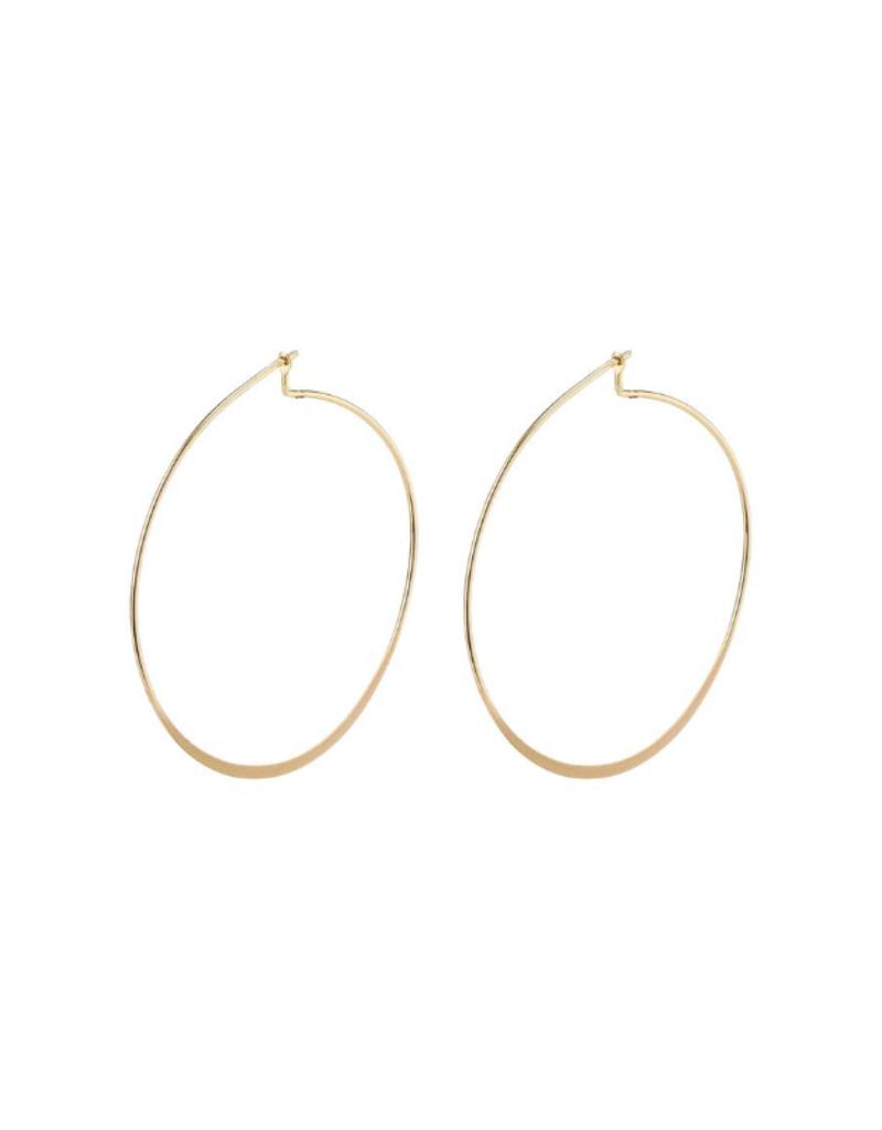 PILGRIM Large Tilly Gold-Plated Hoop Earrings by Pilgrim
