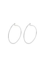 PILGRIM Small Tilly Silver-Plated Hoop Earrings by Pilgrim
