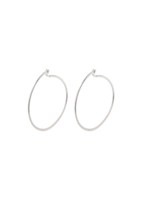 PILGRIM Small Tilly Silver-Plated Hoop Earrings by Pilgrim