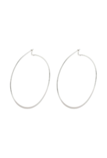 PILGRIM Large Tilly Silver-Plated Hoop Earrings by Pilgrim
