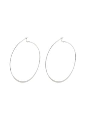 PILGRIM Large Tilly Silver-Plated Hoop Earrings by Pilgrim
