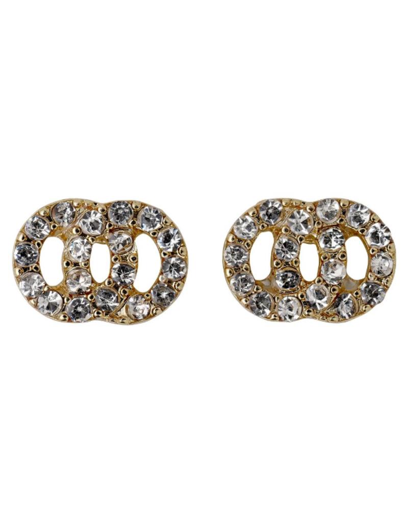 PILGRIM Victoria Gold-Plated Earrings in Pilgrim