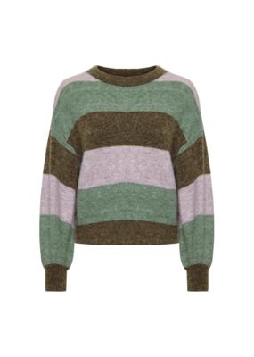 Soaked in Luxury Angel Sweater Green Stripe by Soaked In Luxury