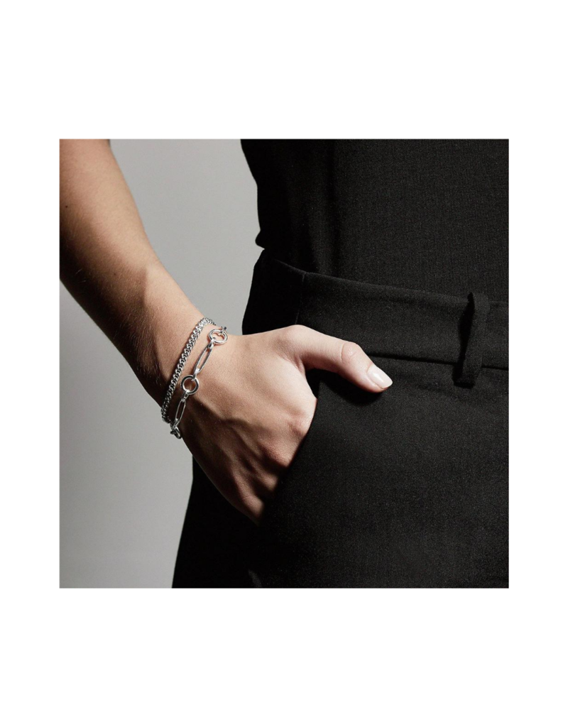 PILGRIM Sensitivity 2-Piece Silver-Plated Bracelest by Pilgrim