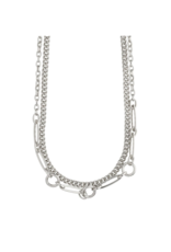 PILGRIM Sensitivity 2-Piece Silver-Plated Necklaces by Pilgrim