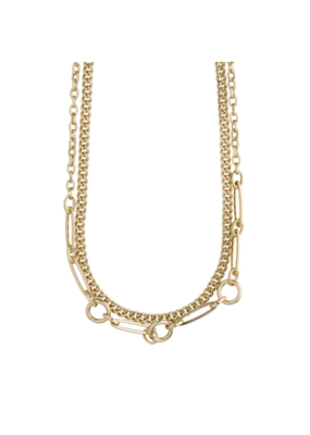 PILGRIM Sensitivity 2-Piece Gold-Plated Necklaces by Pilgrim