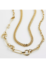 PILGRIM Sensitivity 2-Piece Gold-Plated Necklaces by Pilgrim
