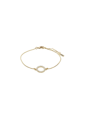 PILGRIM Malin Crystal Gold-Plated Bracelet by Pilgrim