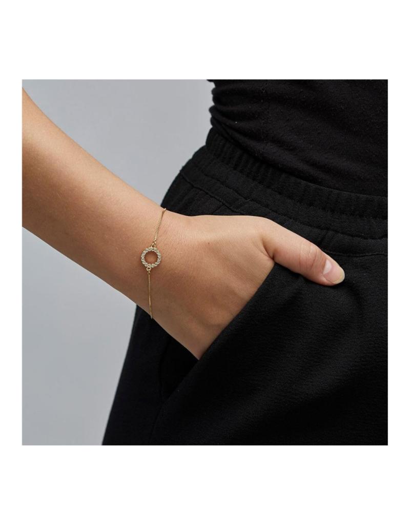 PILGRIM Malin Crystal Gold-Plated Bracelet by Pilgrim