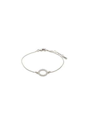 PILGRIM Malin Crystal Silver-Plated Bracelet by Pilgrim