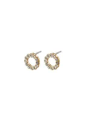 PILGRIM Malin Crystal Gold-Plated Earrings by Pilgrim
