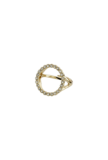 PILGRIM Malin Crystal Gold-Plated Ring by Pilgrim