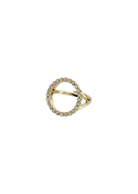 PILGRIM Malin Crystal Gold-Plated Ring by Pilgrim