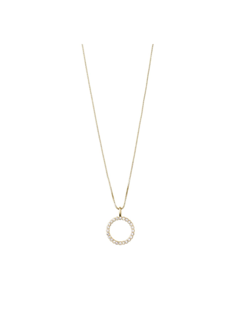 PILGRIM Malin Crystal Gold-Plated Necklace by Pilgrim