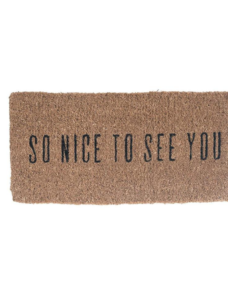 So Nice To See You Natural Coir Doormat