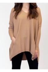 Lyla & Luxe Bronte Oversized Sweater in Carmel by Lyla & Luxe