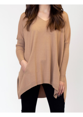 Lyla & Luxe Bronte Oversized Sweater in Carmel by Lyla & Luxe