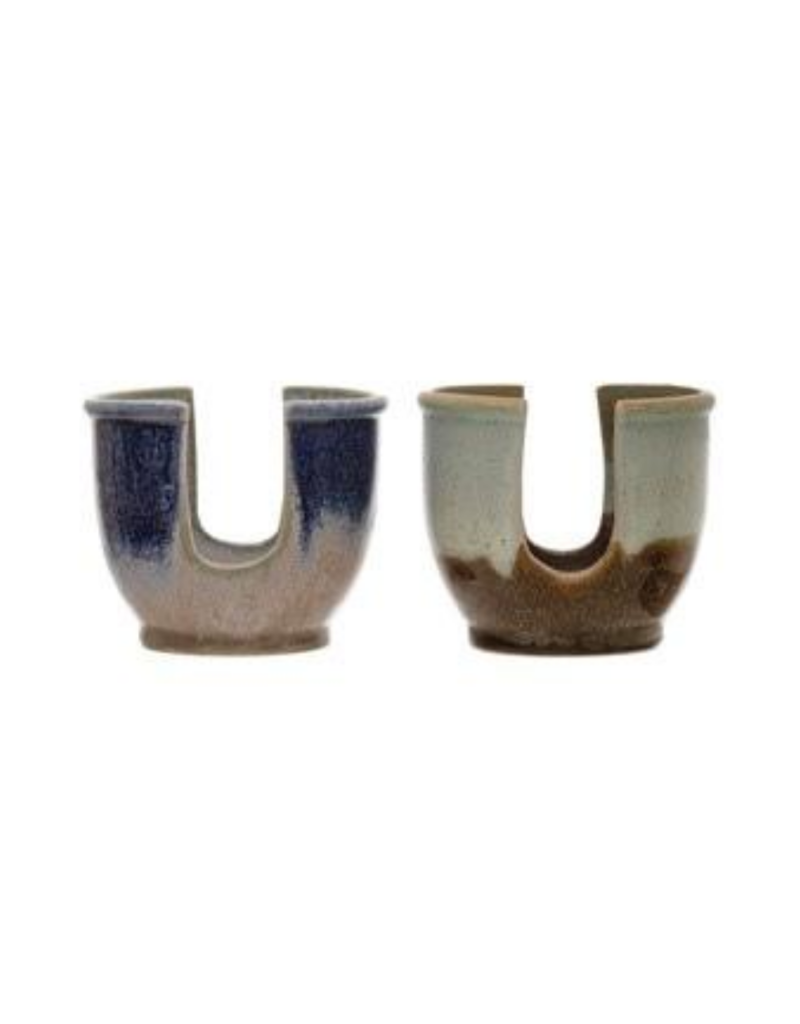 Stoneware Spongeholder with Glaze