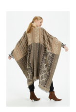 Paisley Cape Animal Jaquard by Cream