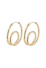 PILGRIM Empathy Gold-Plated Earrings by Pilgrim