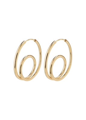 PILGRIM Empathy Gold-Plated Earrings by Pilgrim