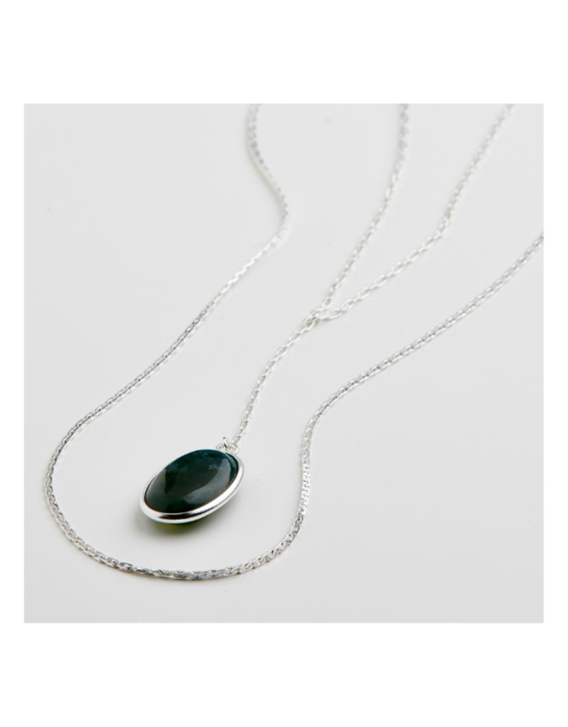 PILGRIM Green Empathy Silver-Plated Necklace by Pilgrim